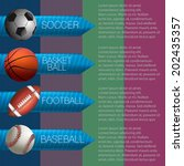 sports info graphic design | Shutterstock .eps vector #202435357