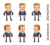 set of advisor character in... | Shutterstock .eps vector #202461943