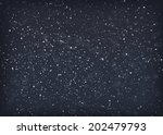 falling snow at night. eps10... | Shutterstock .eps vector #202479793