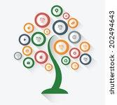 tree infographic design on... | Shutterstock .eps vector #202494643