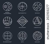 illustrations and logo... | Shutterstock .eps vector #202503277