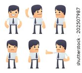 set of businessman character in different interactive  poses