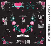 wedding romantic collection... | Shutterstock .eps vector #202514977