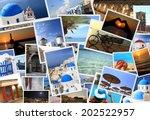 collection of greek islands... | Shutterstock . vector #202522957