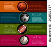 sports info graphic design | Shutterstock .eps vector #202531987