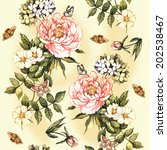 vintage pattern with watercolor ... | Shutterstock . vector #202538467