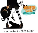 witchy halloween party design.... | Shutterstock .eps vector #202544503