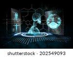 digitally generated medical... | Shutterstock . vector #202549093