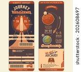 journey to mars boarding pass... | Shutterstock .eps vector #202608697