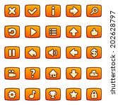orange vector buttons for game  ...