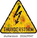 thunderstorm warning sign ... | Shutterstock .eps vector #202629547