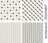 set of vector seamless pattern. ... | Shutterstock .eps vector #202654897