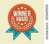 classic vintage winner award... | Shutterstock .eps vector #202689043