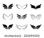 several different wing designs... | Shutterstock . vector #202694203