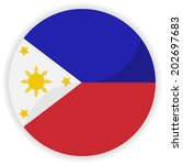philippines flag button | Shutterstock .eps vector #202697683