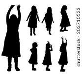vector silhouette of girl on a... | Shutterstock .eps vector #202710523