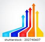colored arrows vector | Shutterstock .eps vector #202740607