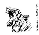Bengal Tiger Sketch Silhouette...