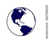 vector globe icons  | Shutterstock .eps vector #202784263