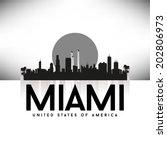 miami united states of america... | Shutterstock .eps vector #202806973