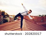 young bold girl woman in...   Shutterstock . vector #202820317