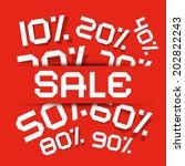 sale paper title   discount... | Shutterstock . vector #202822243
