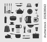 cookware set of objects for... | Shutterstock .eps vector #202828063