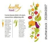 set of vegetables. healthy food ... | Shutterstock .eps vector #202842007