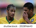 Постер, плакат: Neymar and Hulk of
