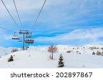 ski lift in the devoluy... | Shutterstock . vector #202897867
