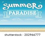 vector summer design template.  | Shutterstock .eps vector #202966777
