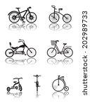 bicycle vector | Shutterstock .eps vector #202989733