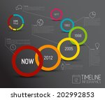 vector infographic timeline... | Shutterstock .eps vector #202992853