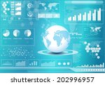 vector design global and... | Shutterstock .eps vector #202996957