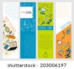 four infographic school kids...   Shutterstock .eps vector #203006197