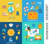 business concept flat icons set ... | Shutterstock .eps vector #203013067