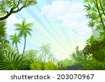summer time happiness with... | Shutterstock .eps vector #203070967