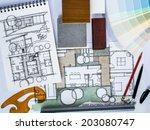 concept of  home renovation...   Shutterstock . vector #203080747