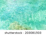 emerald pool with sunny... | Shutterstock . vector #203081503
