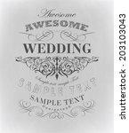 calligraphic design elements    ... | Shutterstock . vector #203103043