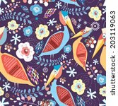 bright natural seamless pattern ... | Shutterstock .eps vector #203119063