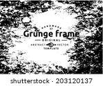 grunge frame set. vector... | Shutterstock .eps vector #203120137