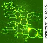 abstract circuit board techno... | Shutterstock .eps vector #203120323