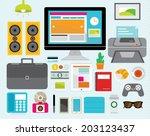 creative design elements of... | Shutterstock .eps vector #203123437