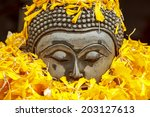 buddha statue from temple in... | Shutterstock . vector #203127613
