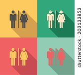 toilet signs   set of male  ... | Shutterstock .eps vector #203133853