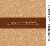 tea and sweets vector... | Shutterstock .eps vector #203160643