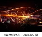 fractal wave series.... | Shutterstock . vector #203182243