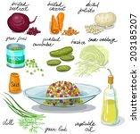 antipasto,barbabietola,bollito,cavolo,carote,tritato,cucina,dieta,aneto,medicazione,cipolla,piselli,sottaceti,patate,acida