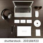 mockup business template | Shutterstock . vector #203186923